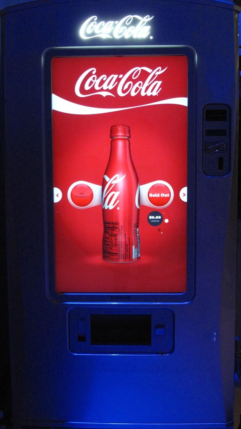 Samsung réinvente le distributeur de Coca-Cola