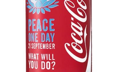 Une canette Coca-Cola collector pour la Journée de la Paix