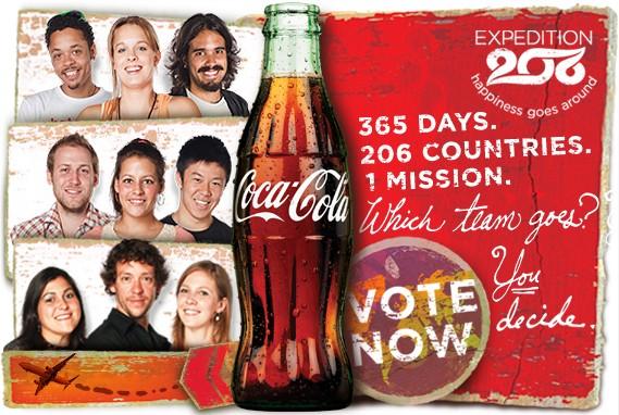 Coca-Cola va une envoyer des ambassadeurs autour du monde