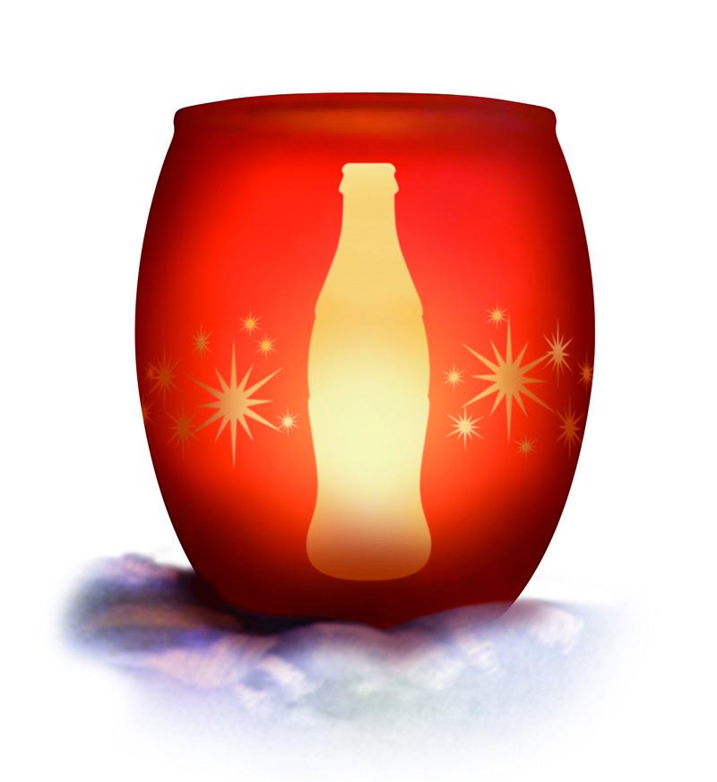 Plus d'infos sur le photophore Coca-Cola offert à Noël