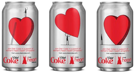 Des canettes collectors Coca-Cola Light aux Etats-Unis