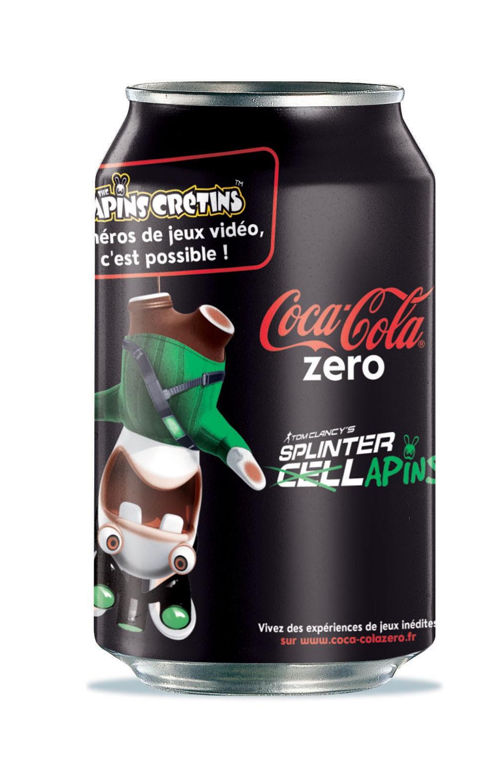 Les Lapins Crétins débarquent dans votre Coca-Cola Zéro !