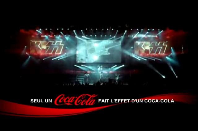 Publicité : Coca-Cola et le groupe Kiss