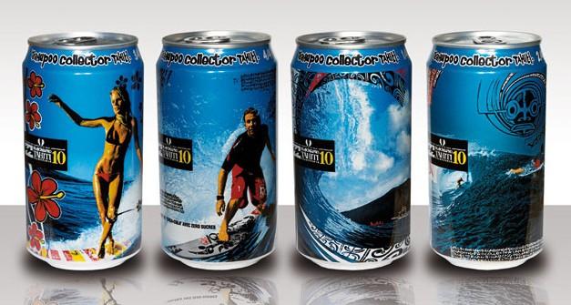 Canettes Collector Coca-Cola à Tahiti