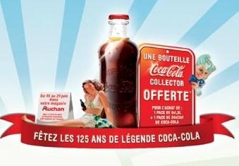 La bouteille Hutchinson offerte chez Auchan