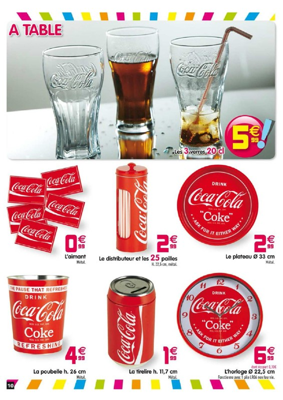 une s lection d articles de d co coca cola chez gifi. Black Bedroom Furniture Sets. Home Design Ideas