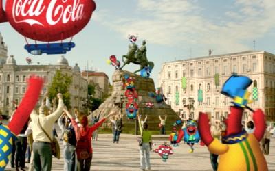 Publicité Coca-Cola pour l'Euro 2012
