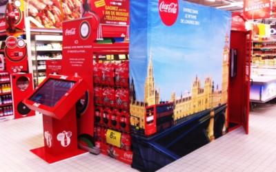 Coca-Cola propose une animation commerciale en magasins à l'occasion des JO de Londres