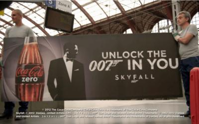 Dans les coulisses de l'opération Coca-Cola Zéro – Unlock the 007 in you. You have 70 seconds !