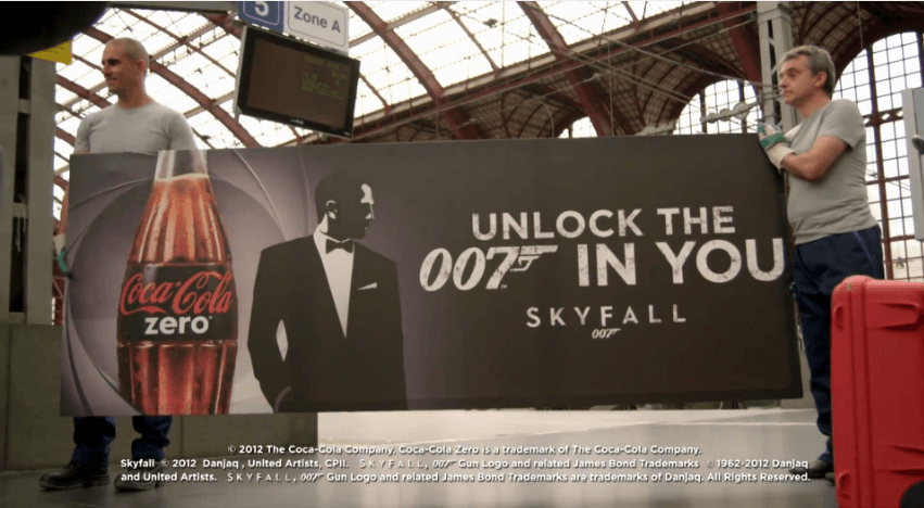 Dans les coulisses de l'opération Coca-Cola Zéro – Unlock the 007 in you. You have 70 seconds !
