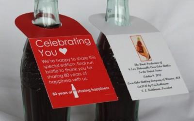 Vente d'une bouteille Coca-Cola commémorative aux Etats-Unis