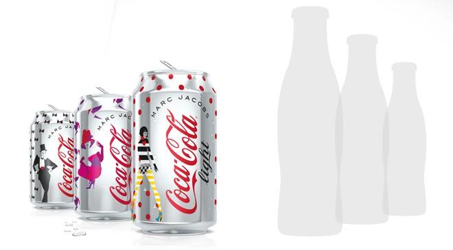 Les bouteilles collector Coca-Cola Light par Marc Jacobs se dévoilent prochainement