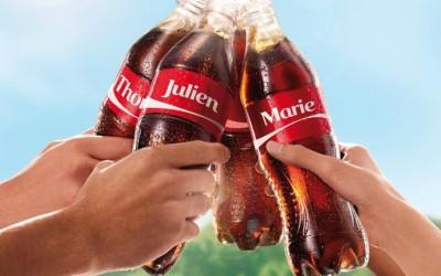 Découvrez la liste complète des 250 prénoms disponibles sur les bouteilles de Coca-Cola