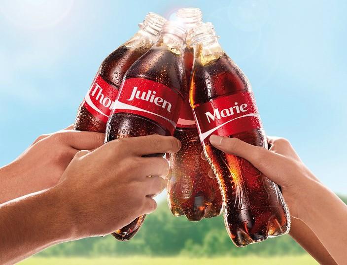100 nouveaux prénoms à la rentrée sur les bouteilles de Coca-Cola