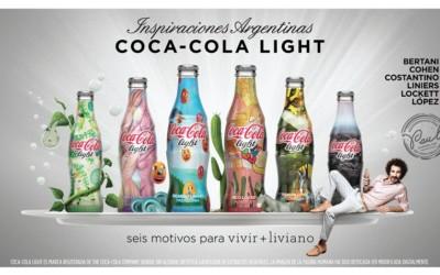 6 bouteilles Coca-Cola Light Collector en Argentine