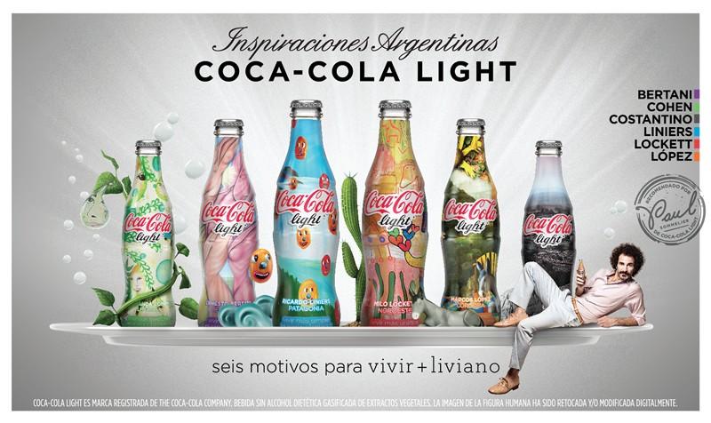 6 bouteilles Coca-Cola Light Collector en Argentine
