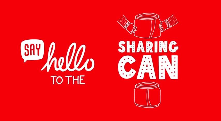 Coca-Cola invente la canette à partager !
