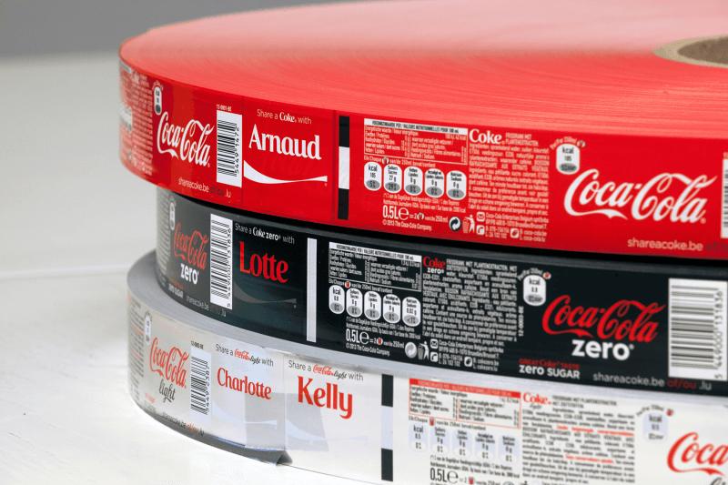800 millions d'étiquettes pour l'opération «Partagez un Coca-Cola»