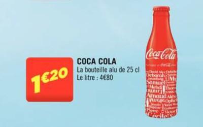 La bouteille collector «Partagez un Coca-Cola» se dévoile