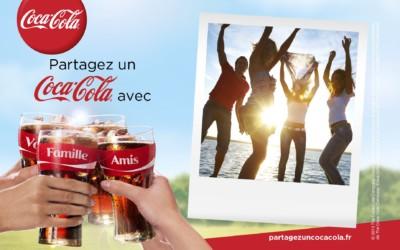 Envoyez une carte postale personnalisée avec Coca-Cola et popcarte