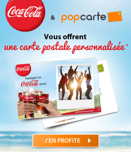 Opération carte Coca-cola gratuite