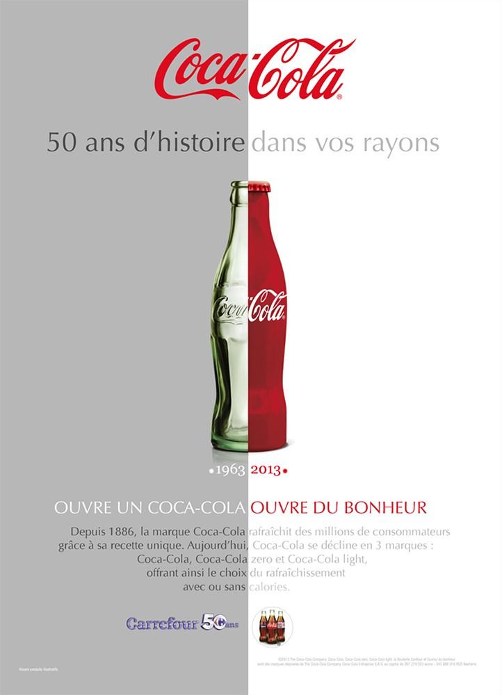 Coca-Cola communique sur 50 ans de présence dans les hypermarchés