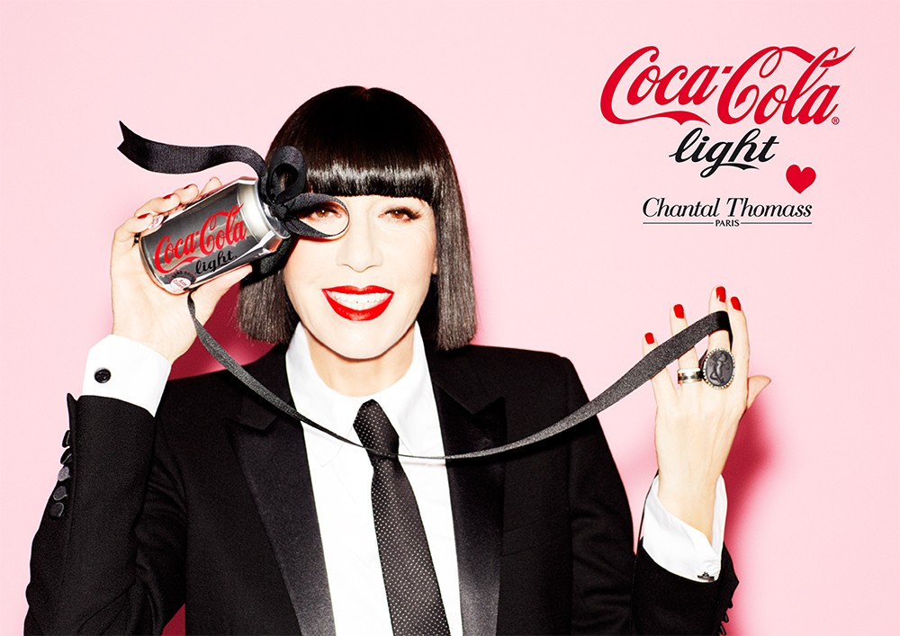 Chantal Thomass est la nouvelle Directrice Artistique de Coca-Cola Light