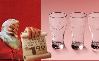 Des verres Coca-Cola de Noël à Porto Rico