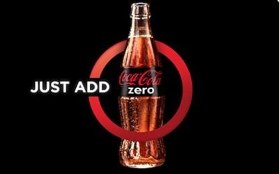 Nouvelle campagne et identité visuelle pour Coca-Cola Zero en Grande-Bretagne : Just Add Zero