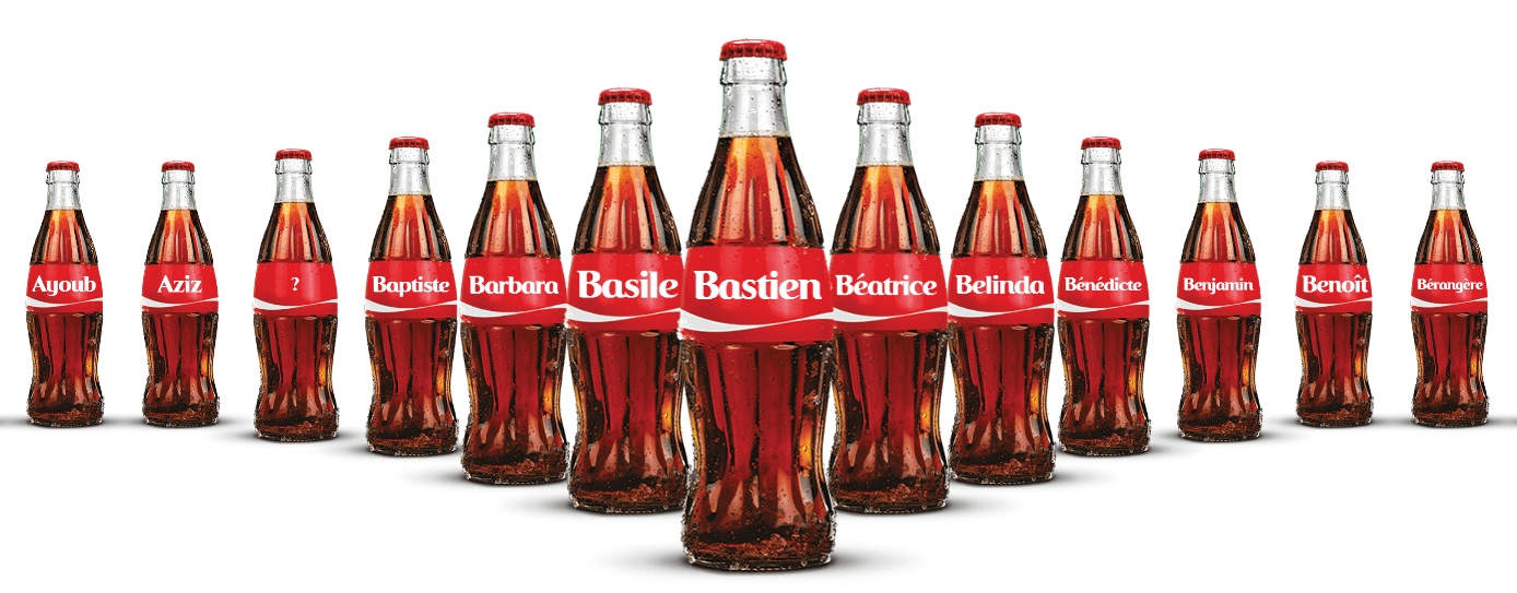 Partagez un Coca-Cola 2014 : les prénoms