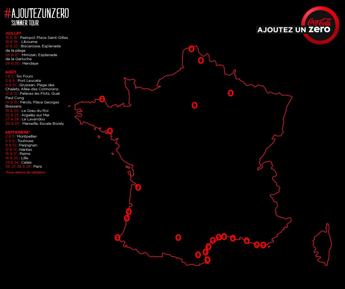 Coca-Cola zero Summer Tour : toutes les dates