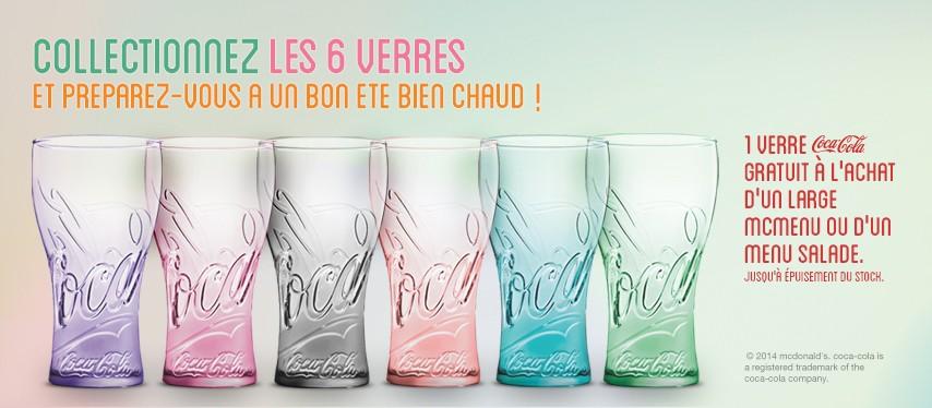 De nouveaux verres Coca-Cola à collectionner chez McDonald's Belgique