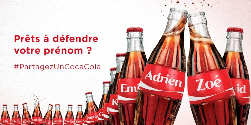 Partagez un Coca-Cola : faites gagner votre prénom et gagnez des codes cadeaux !