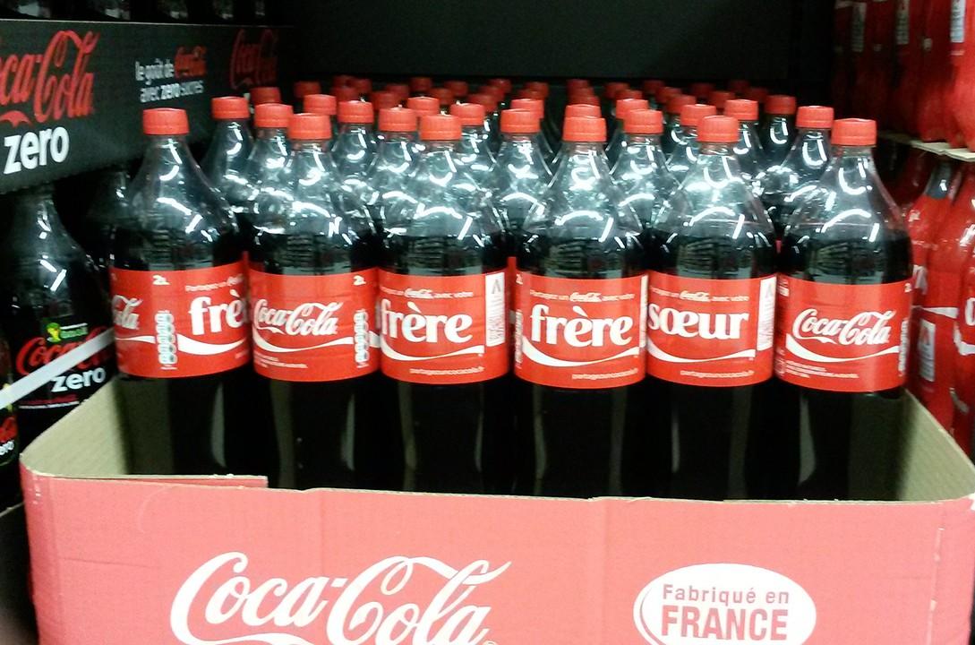 Partagez un Coca-Cola : voici d'autres mots disponibles sur les bouteilles
