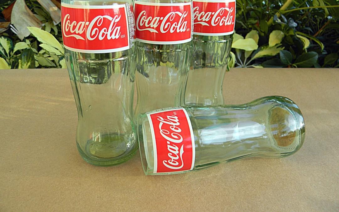Des verres Coca-Cola réalisés à partir de bouteilles recyclées