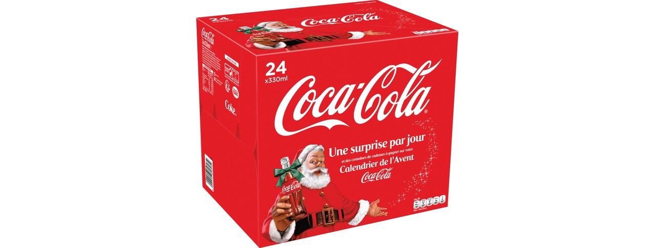 Un calendrier de l'avent Coca-Cola (à éviter) chez Auchan