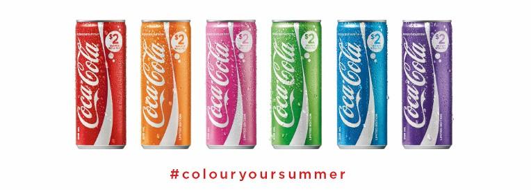 Des canettes de Coca-Cola multicolores en Australie