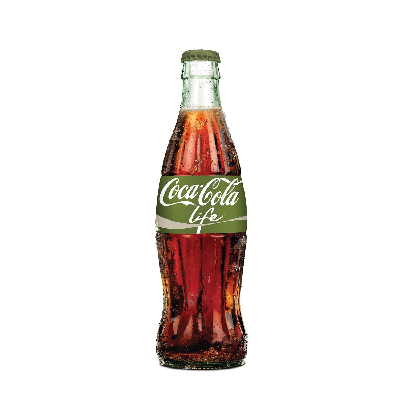 La bouteille Coca-Cola Life en verre en avant première chez Colette