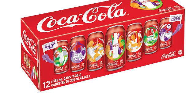 Canettes Coca-Cola collector Coupe du Monde Féminine de Football au Canada