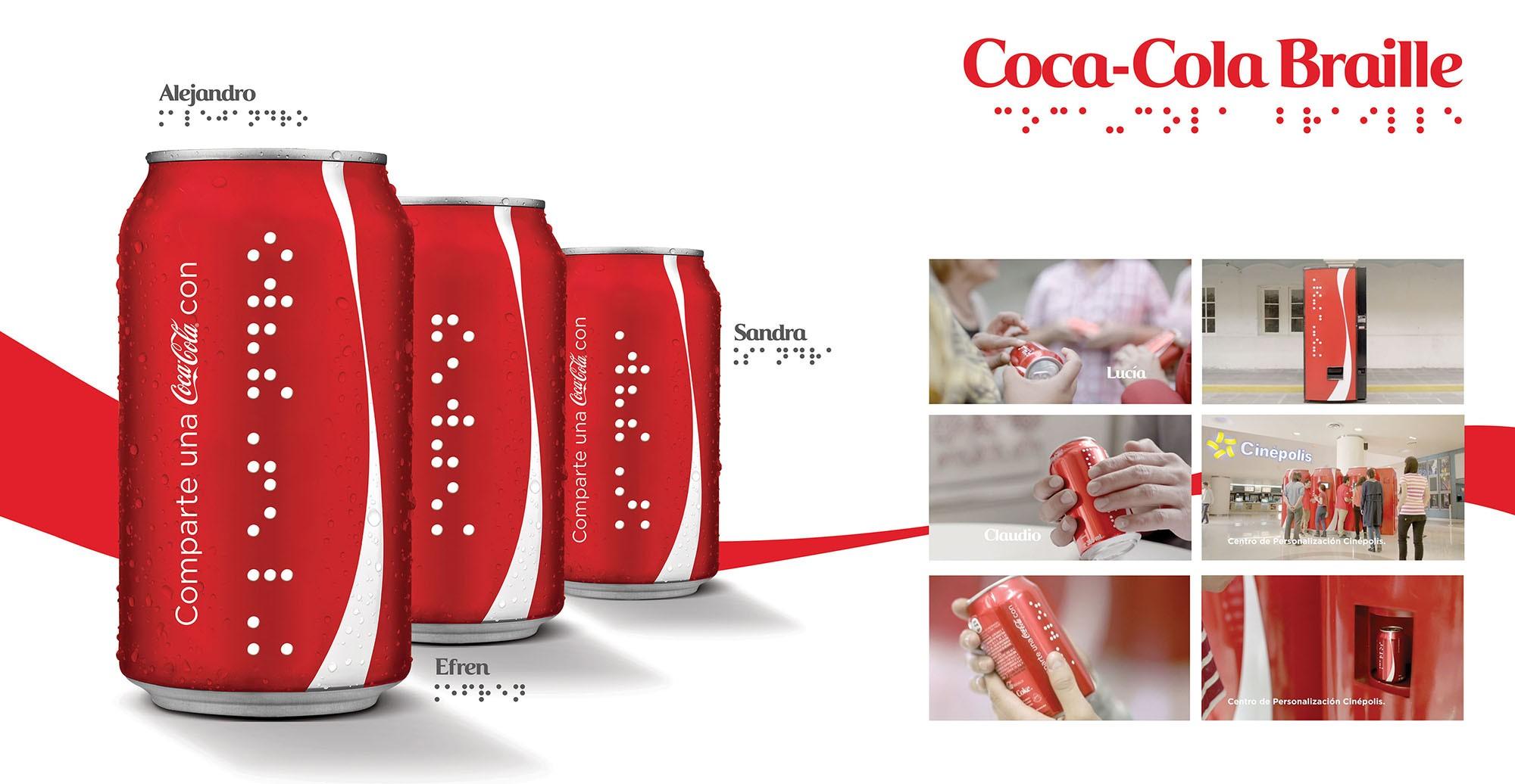 Découvrez l'opération Partagez un Coca-Cola … en braille