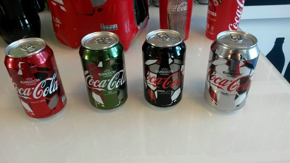 Euro 2016 : indiscrétions sur les canettes et bouteilles collector de Coca-Cola