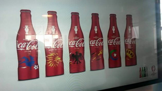 Bouteilles collector Coca-Cola - Euro 2016 (visuels non définitifs)