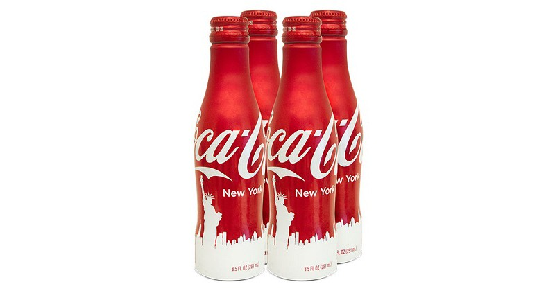 Une bouteille Coca-Cola en édition limitée disponible à New-York