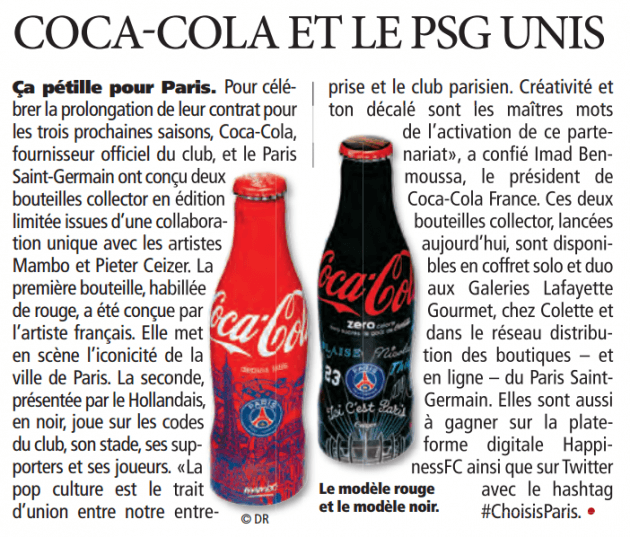 Coca-Cola x Paris Saint-Germain (extrait Direct Matin)