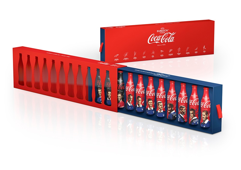 uefa euro 2016 11 bouteilles coca cola collector. Black Bedroom Furniture Sets. Home Design Ideas