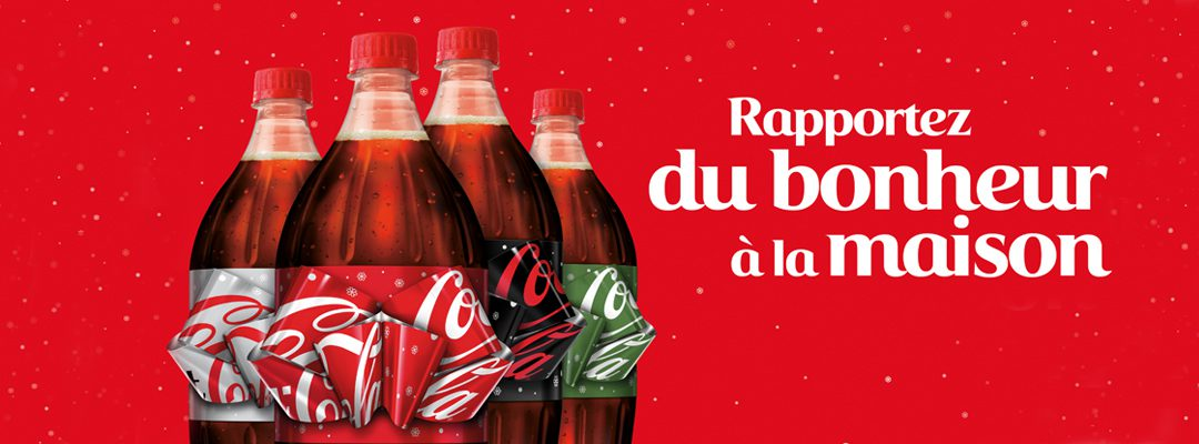 Des bouteilles Coca-Cola au nœud magique en France
