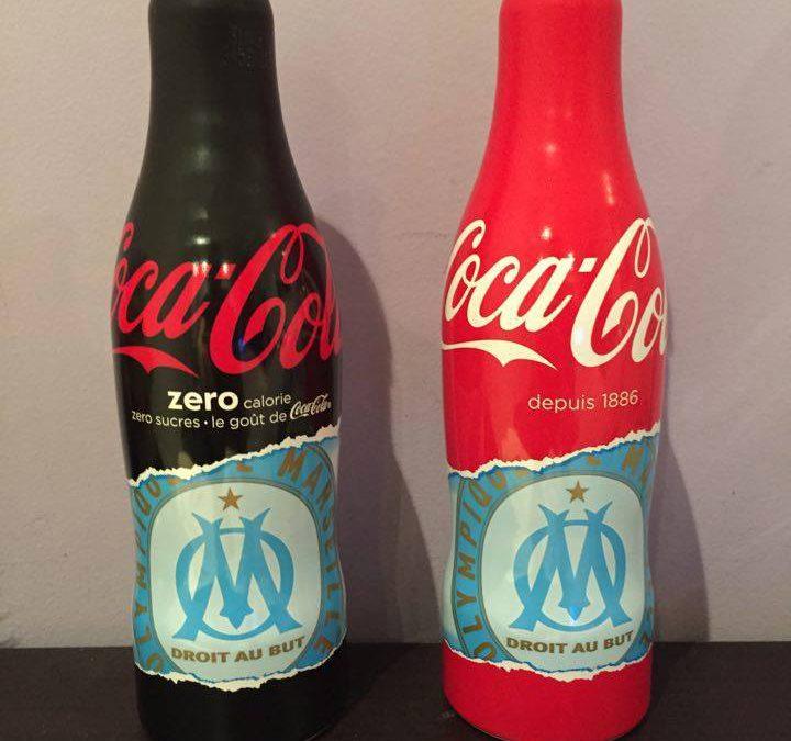 Bouteilles collector Coca-Cola x Olympique de Marseille