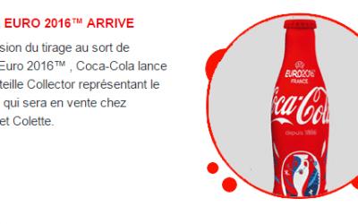 Une nouvelle bouteille Coca-Cola collector pour l'UEFA Euro 2016