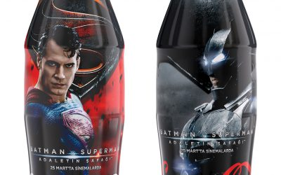 Bouteilles Coca-Cola Batman vs. Superman en Turquie