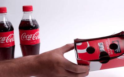 Coca-Cola transforme ses emballages en lunettes de réalité virtuelle